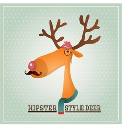 Hipster Reindeer vector image