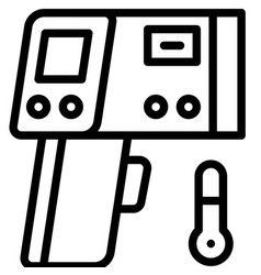 Infrared thermometer line style icon vector
