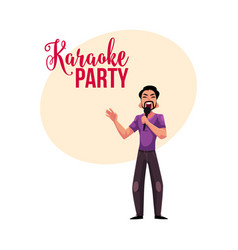 Karaoke party contest banner poster postcard vector