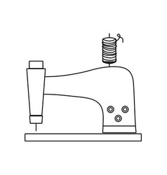 line sewing machine fashion industry equipment vector image