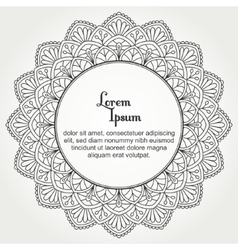 Mandala with text vector