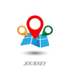 map and pointer icon vector image