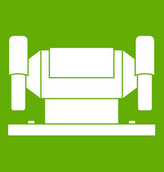 Metalworking machine icon green vector