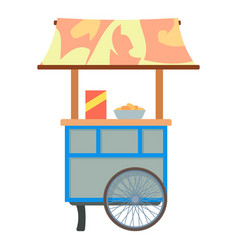 mobile cart for sale food icon cartoon style vector image