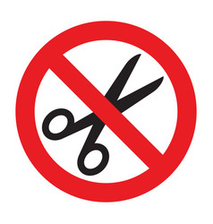 no scissors sign vector image