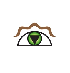 Original Stylized Eye As Symbol For Various vector image