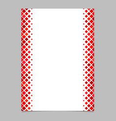 Page template from red diagonal square pattern vector