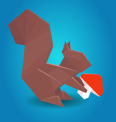 paper origami squirrel vector image