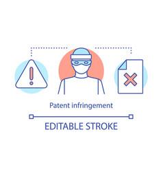 Patent infringement concept icon vector