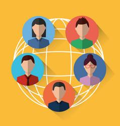 people internet world communication sharing vector image