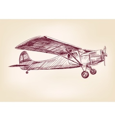 Plane hand drawn llustration realistic sketch vector