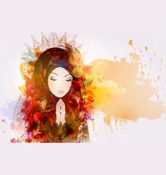 prayer religion christianity vector image