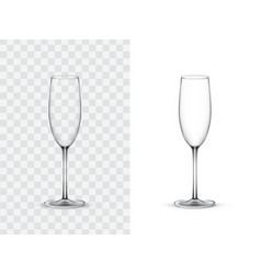 Realistic wine glasses vector