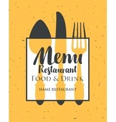 Restaurant menu with cutlery vector
