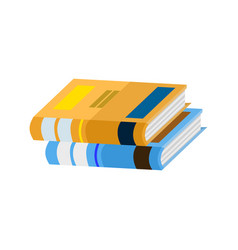 school book stack vector image