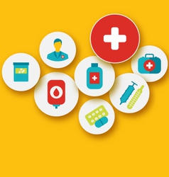 set colorful medical icons for your design - vector image