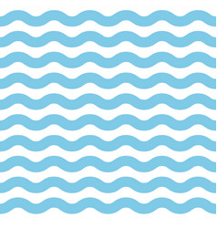 Simple blue wave lines background vector