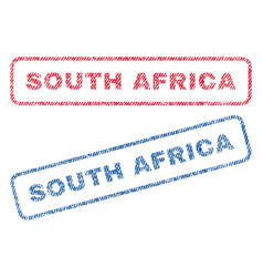 south africa textile stamps vector image