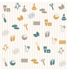 Spa seamless pattern vector image