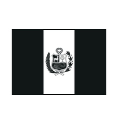 State flag of Peru monochrome on white background vector image