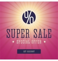 Super sale banner advert vector