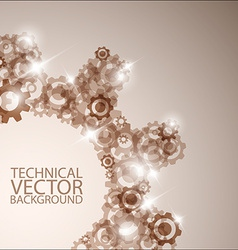 technical background made from cogwheels vector image
