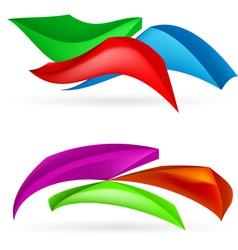 Three colorful abstract forms vector image