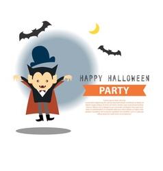 Vampire halloween info vector