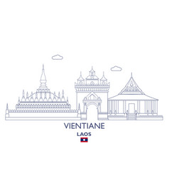 vientiane city skyline vector image