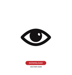 visible opened eye icon vector image