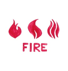 Watercolor flames on the white background vector image