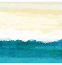 Watercolour beach scene vector