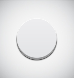 White Button vector image