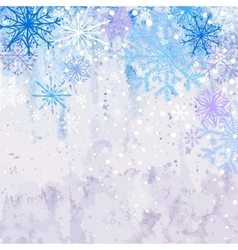 Winter snowstorm background vector image
