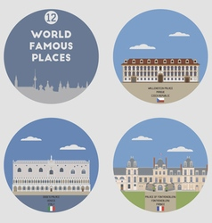 World famous places vector
