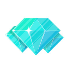 blue jewelry diamond icon vector image