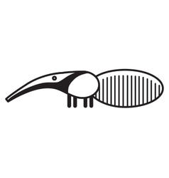 Cute animal anteater - vector image