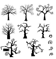 Gothic Trees Set vector image