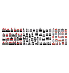 icons set of real vector image vector image