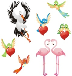 Love me - Birds collection vector image