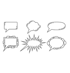 Speech bubbles examples vector image