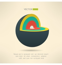 Sphere section icon in colorful design Circle vector image