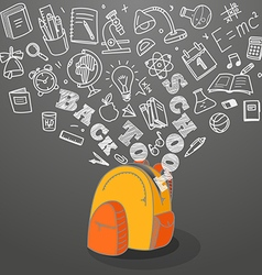 Back to school concept Falling icons to the school vector image vector image
