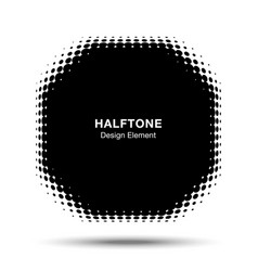 convex abstract halftone distorted polygon frame vector image