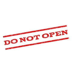 Do Not Open Watermark Stamp vector image