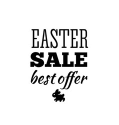 easter sale offer vector image