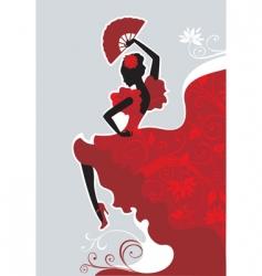 flamenco dancer vector image vector image