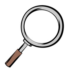 magnifying glass icon cartoon vector image