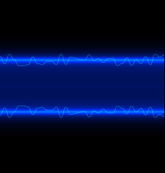abstract line wave on blue technology background vector image