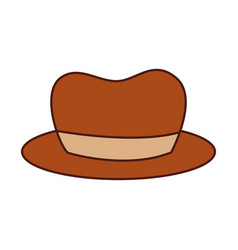 hat for men accessory old fashion vector image